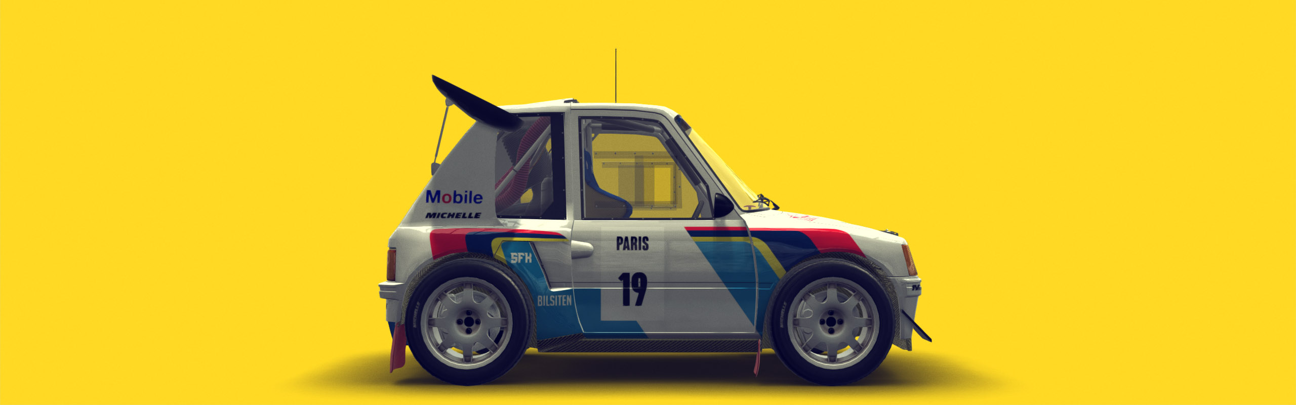 Cartoon Style Peugeot 205 T16