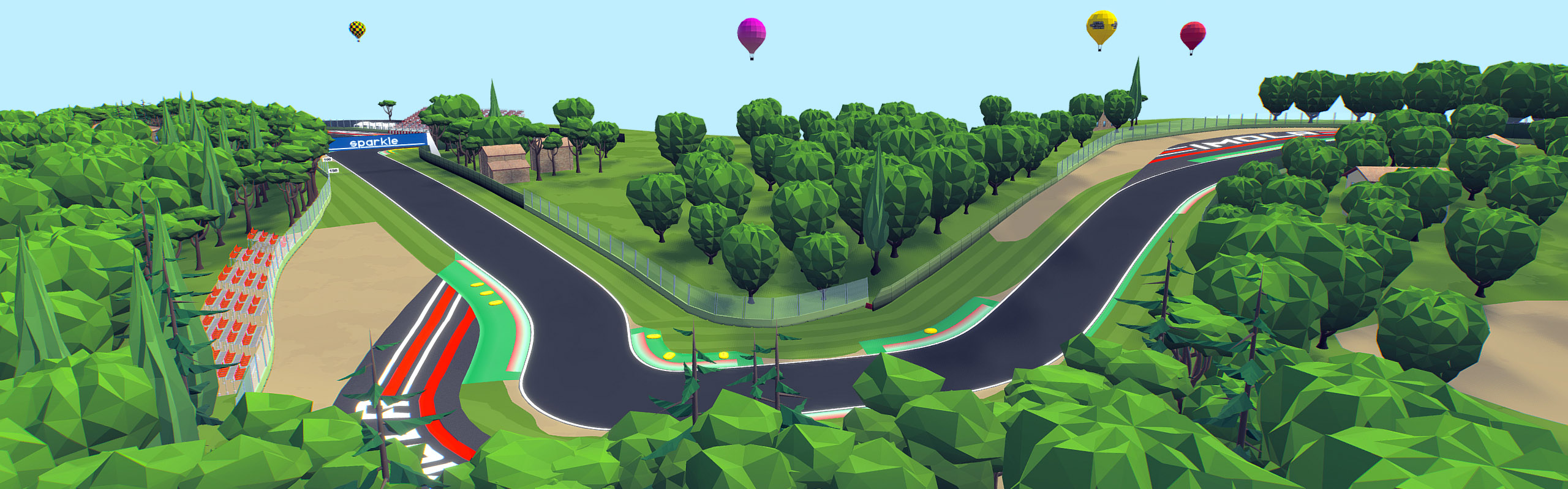 Cartoon Race Track Imola
