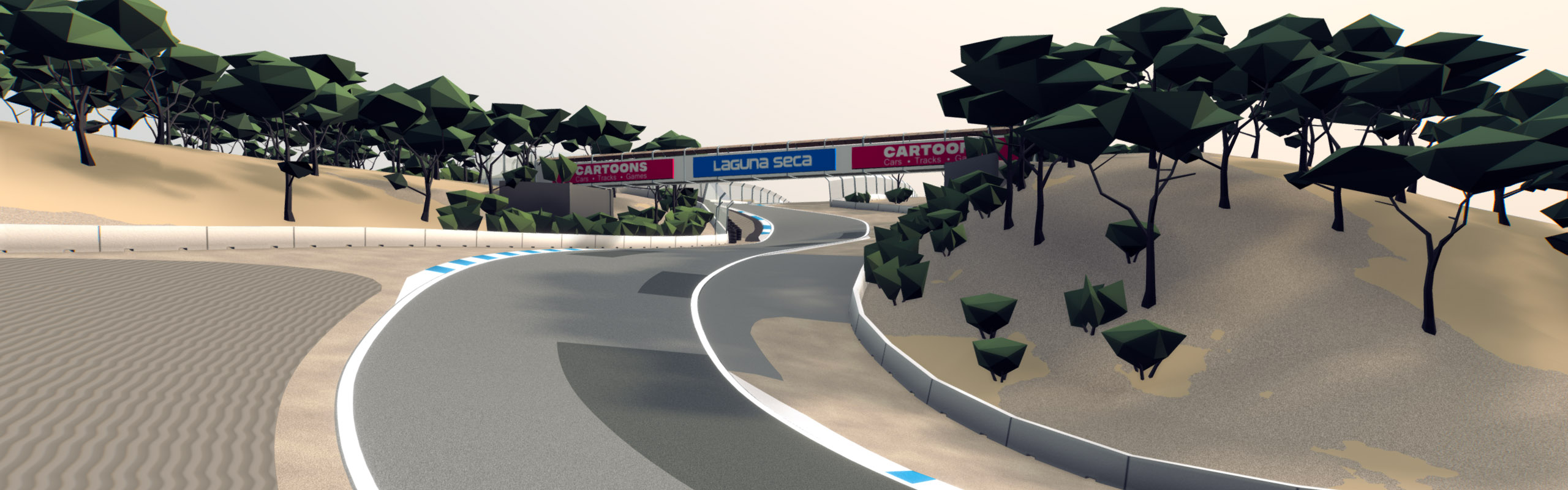 Corkscrew turn of Laguna Seca track