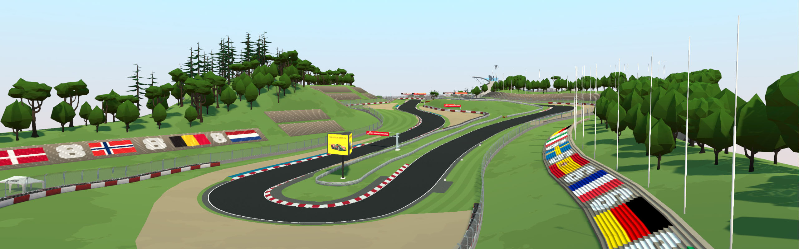 Cartoon Style Nurburgring