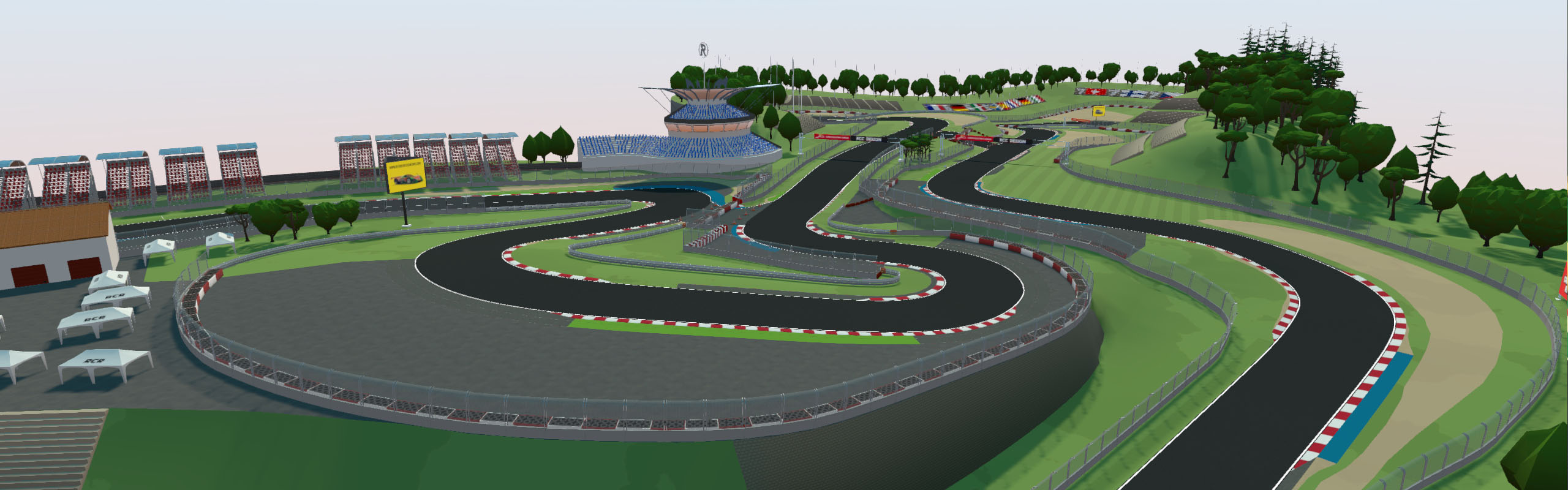 Nurburgring cartoon style model