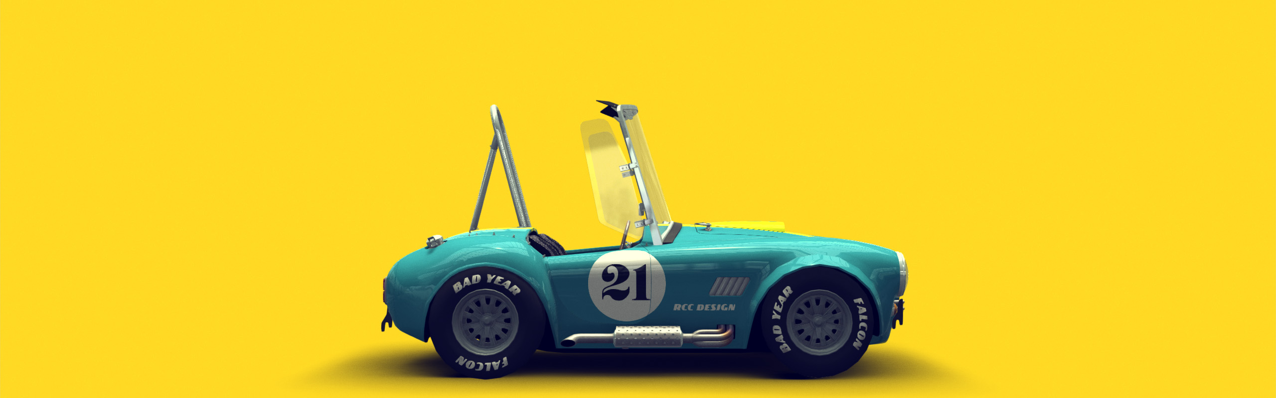 Cartoon Style Shelby Cobra 1966
